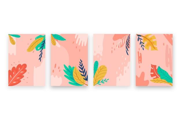抽象的な熱帯カードコンセプト