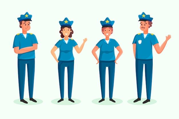 Коллекция полицейской профессии