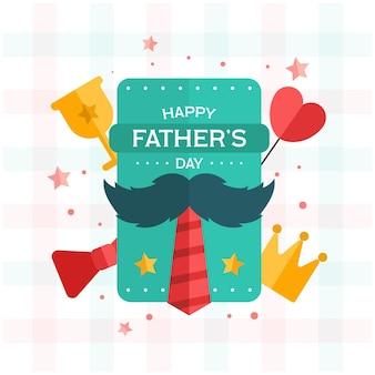 Плоский дизайн отцов день концепция