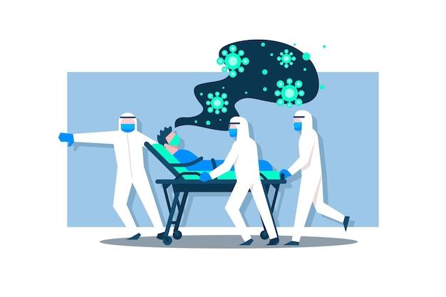 Коронавирусная критическая концепция пациента