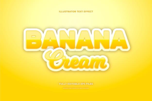 Текстовый эффект банановый крем