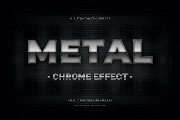Текстовый эффект металл
