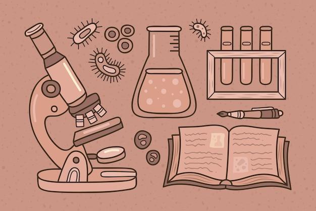 Старинный научный фон