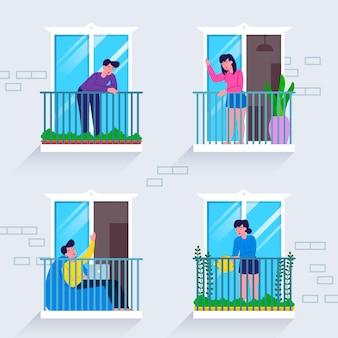 Соседи по окнам в карантине