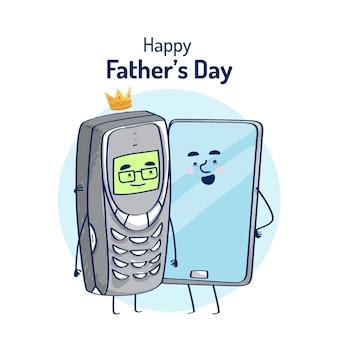 Дизайн иллюстрации дня отцов