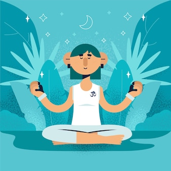 Концепция иллюстрации медитации