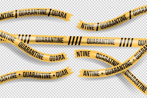 Реалистичная концепция карантинной ленты