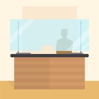 カウンター用保護ガラス