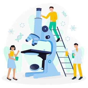Научная концепция с микроскопом