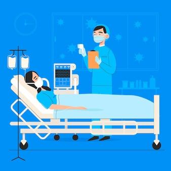 コロナウイルスの重要な患者