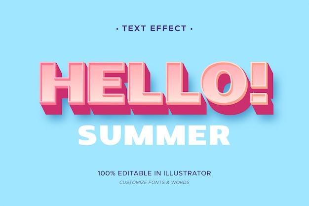 Тема с текстовым эффектом