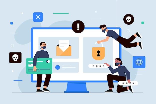 Иллюстрация кражи данных