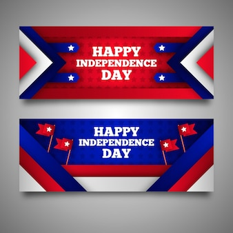 День независимости баннеры шаблон стиля