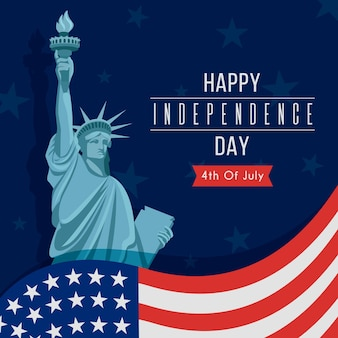 День независимости плоский дизайн тема