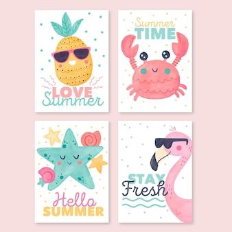 Акварельные летние открытки