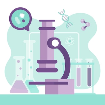 顕微鏡による科学の概念