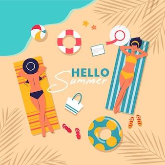 Привет летний дизайн