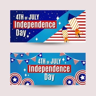 День независимости баннеров дизайн шаблона