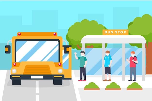 公共交通機関の設計における社会的距離