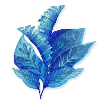単色の熱帯の葉