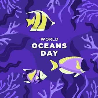Ручной обращается стиль всемирный день океанов