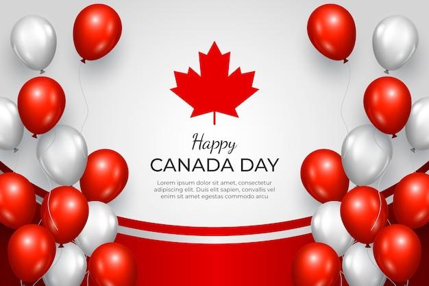 Реалистичные канады день шары фон