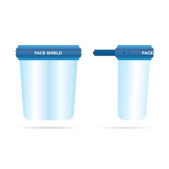 リアルなプラスチック製フェイスシールド