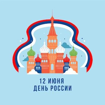 フラットデザインモスクワロシアの日