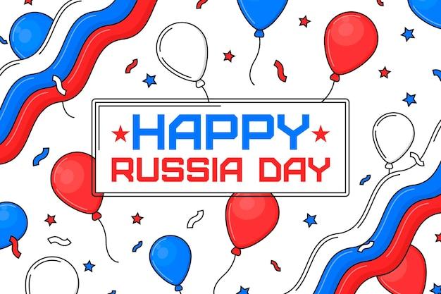 フラットなデザインのロシア日の背景