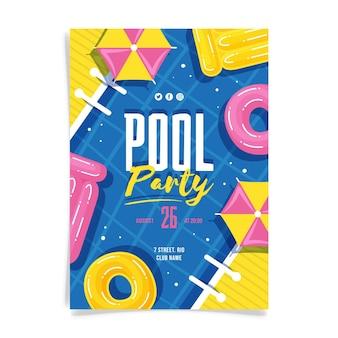 Нарисованный плакат летней вечеринки