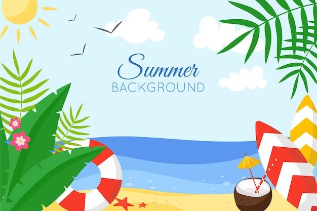 カラフルな夏の背景デザイン