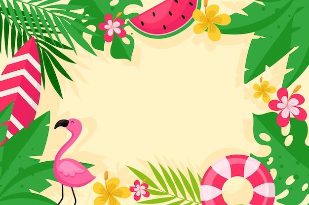 カラフルな夏の背景スタイル