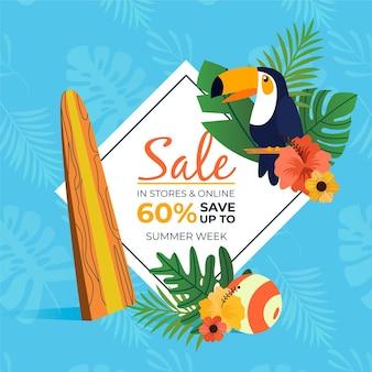 Ручной обращается летняя распродажа и птица