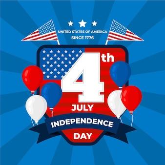 Плоский дизайн сша день независимости концепция