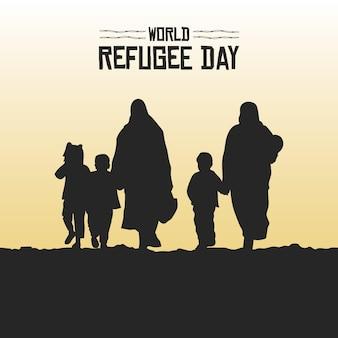 Силуэты всемирный день беженцев