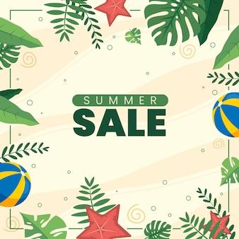 Плоский дизайн летняя распродажа