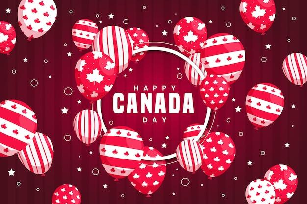 風船でカナダの日の背景
