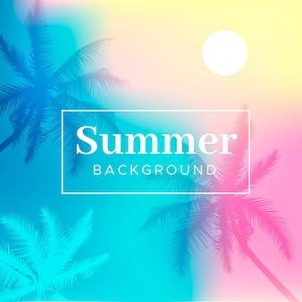 カラフルな夏の壁紙のコンセプト