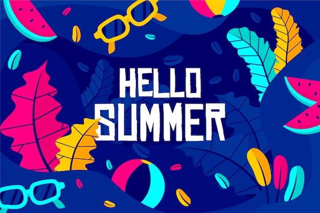 カラフルな夏の壁紙スタイル