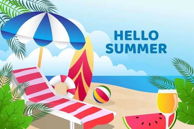 カラフルな夏の壁紙デザイン