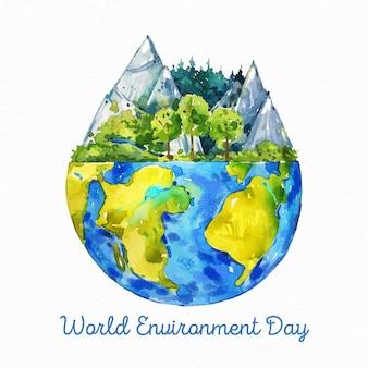 水彩世界環境デー