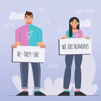 Гендерно-нейтральная концепция движения