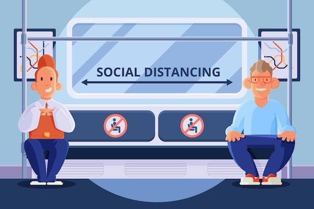 公共交通機関における社会的距離