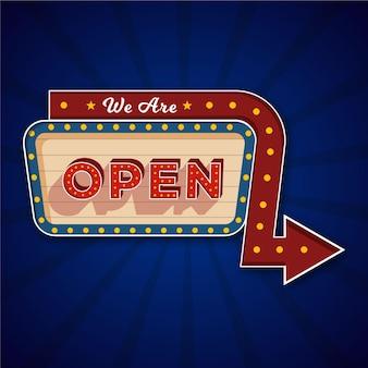 オープンサインのコンセプト