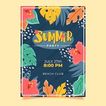 Плакат тропической вечеринки