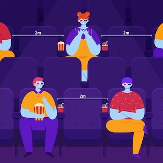 Социальное дистанцирование в кинотеатре