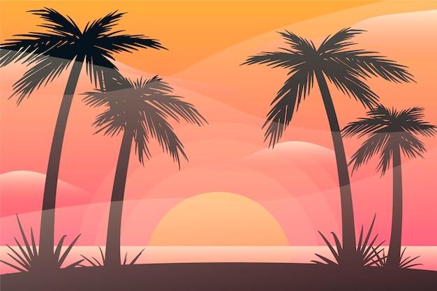 カラフルな夏の背景