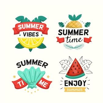 Пакет летних значков