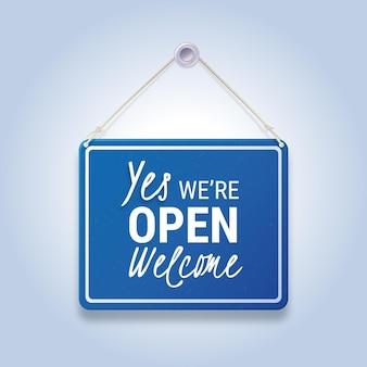 私たちはオープンサインです