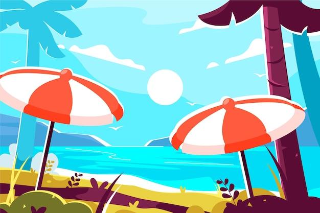 夏の背景のカラフルなテーマ
